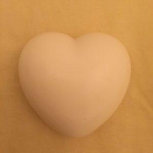 Sydänsaippua valkoinen